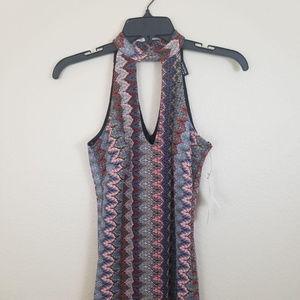 NWT Halter Printed Maxi Dress